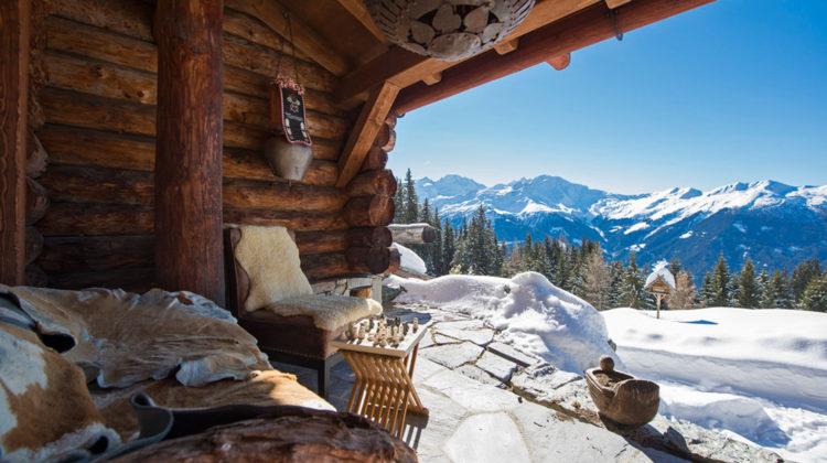 Berghütte Schweiz Ausblick Alpen Luxus Schnee