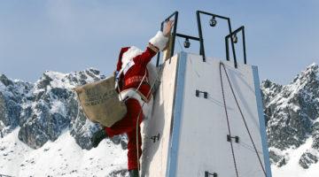 Samnaun Ischgl Wettkampf Weltmeisterschaft Samichlaus Nikolaus Weihnachtmann