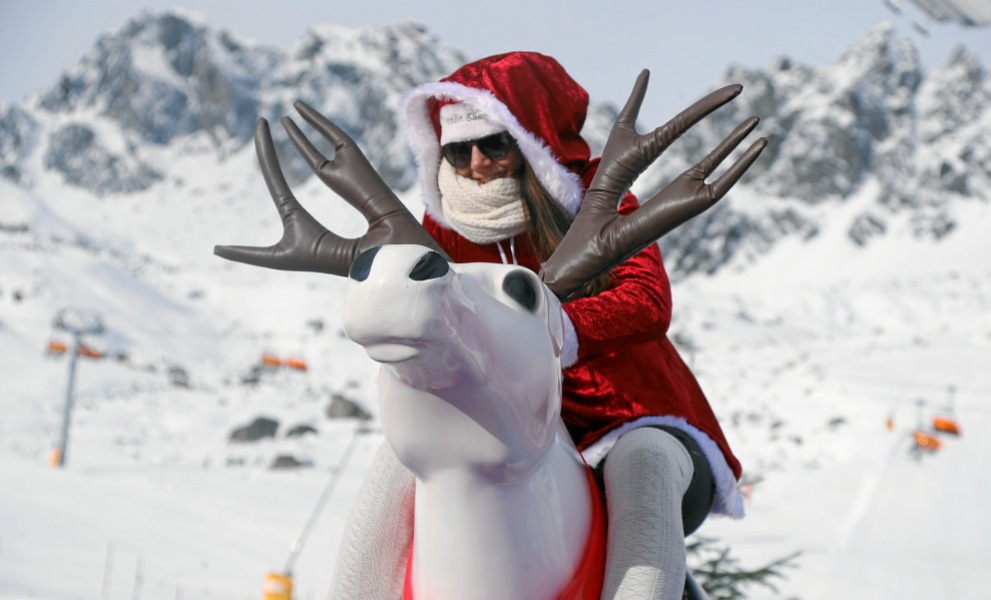 Samnaun Ischgl Nikolaus Samichlaus Weihnachtsmann Wettkampf Weltmeisterschaft