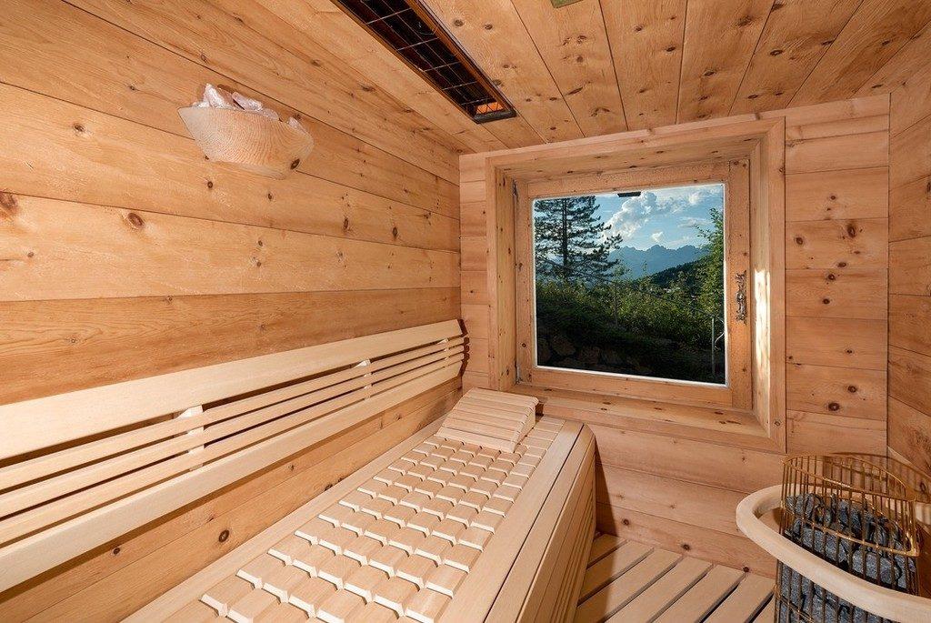 Berghütte Österreich Sauna Ausblick