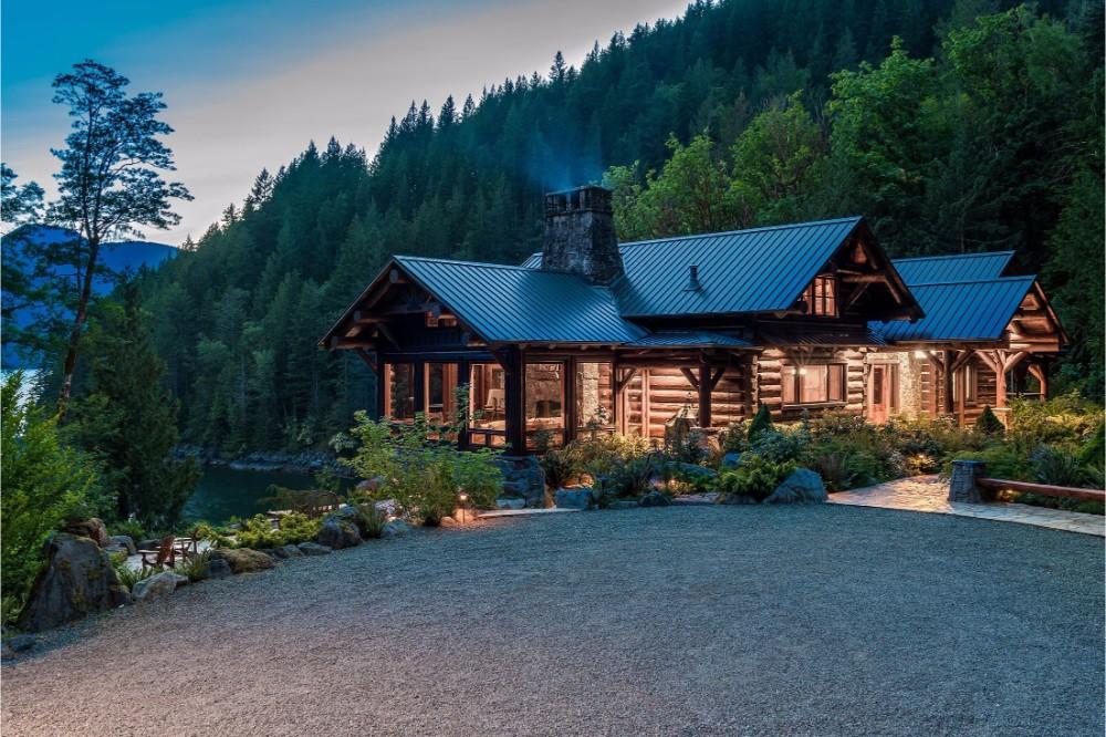 Berghütte Kanada Wald Holz