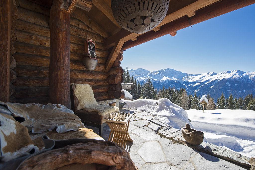 Berghütte Schweiz Chalet Luxus Alpen Aussicht