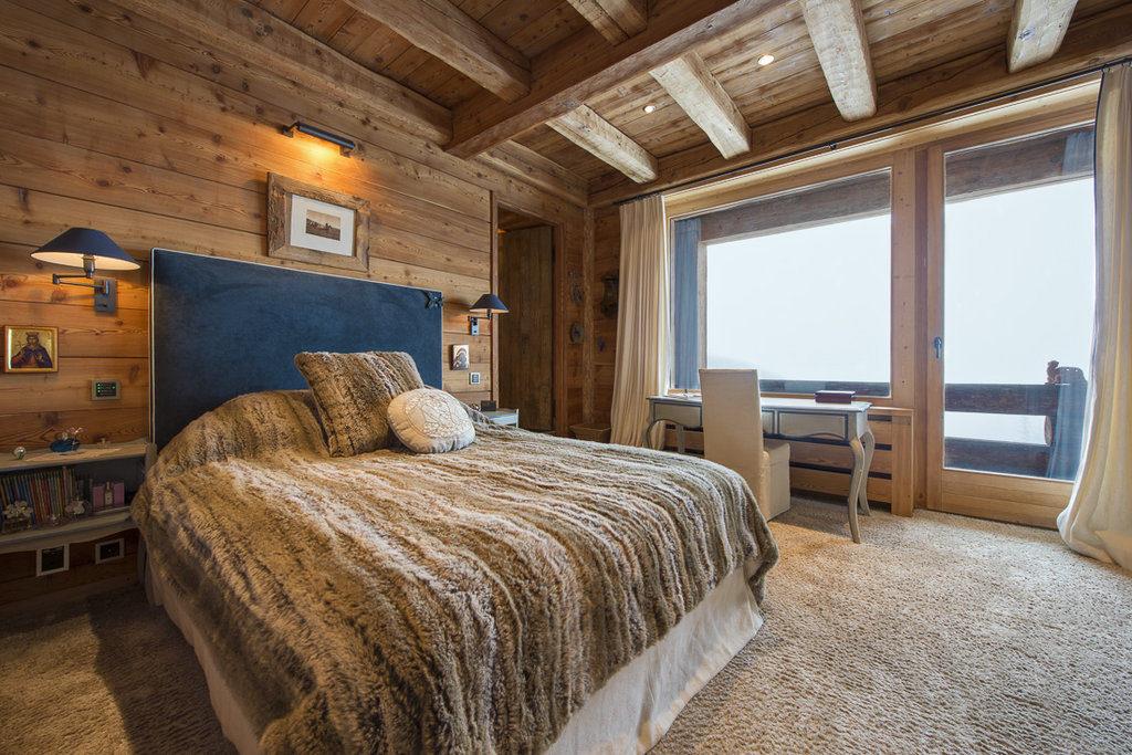 Berghütte Schweiz Schlafzimmer Holz Interieur Einrichtung
