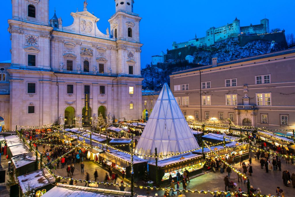 Salzburger Christkindlmarkt Adventsmarkt Weihnachtsmarkt