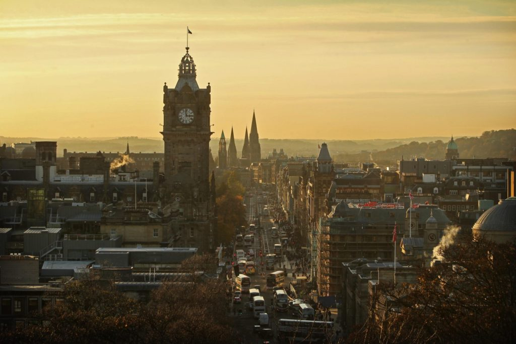 Edinburgh Skyline Old Town Harry Potter