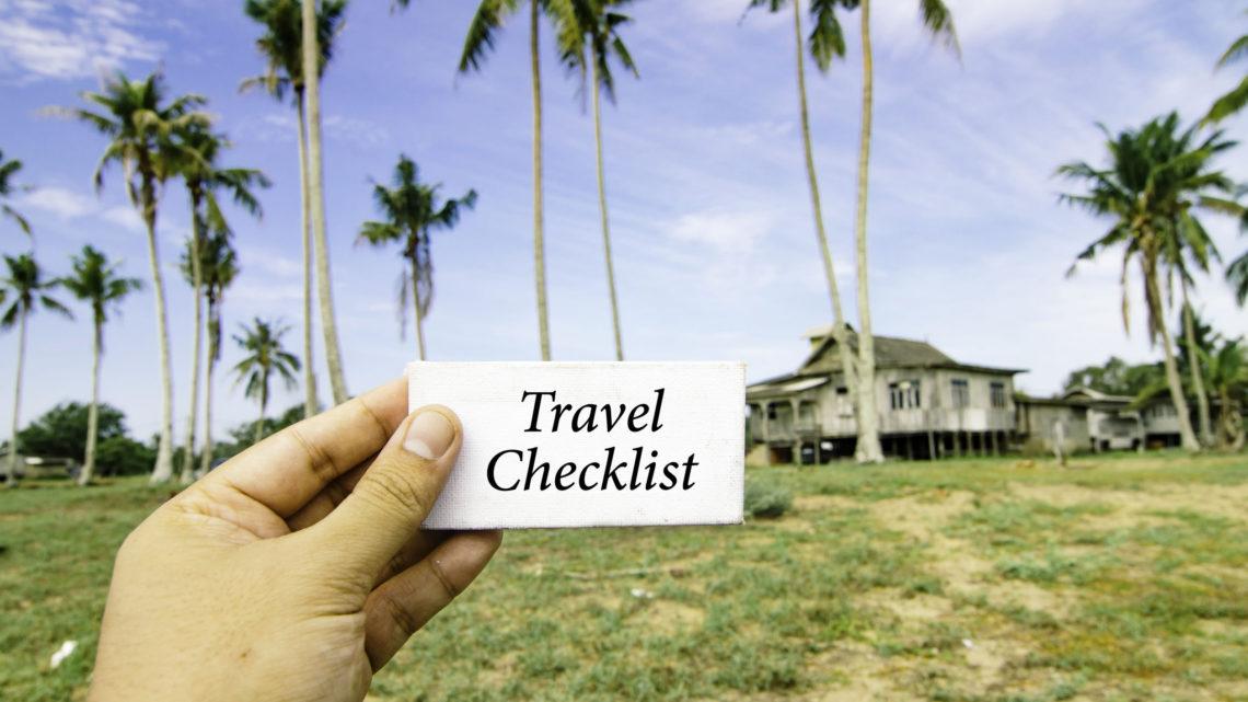 Checkliste für Ferien Travel Tipps Packliste
