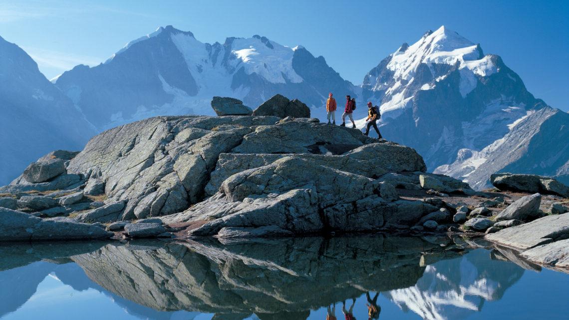 Schweiz Tourismus Hochalpin Berge Alpen Ferien in der Schweiz Wandern