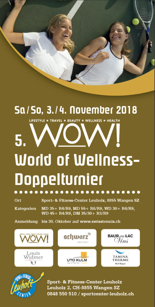 WOW Doppelturnier 3./4. November Swisstennis