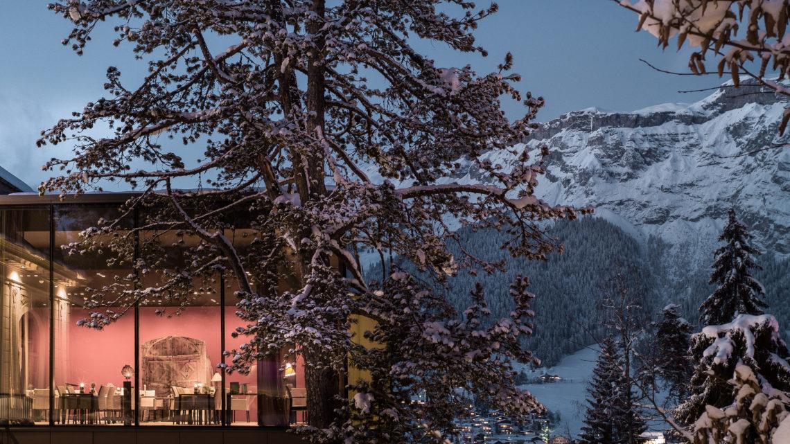 Waldhaus Flims Alpine Grand & Spa Resort Winter Outdoor Spa