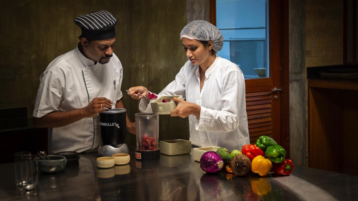Prakriti Shakti Spa Resort Indien Kulinarik