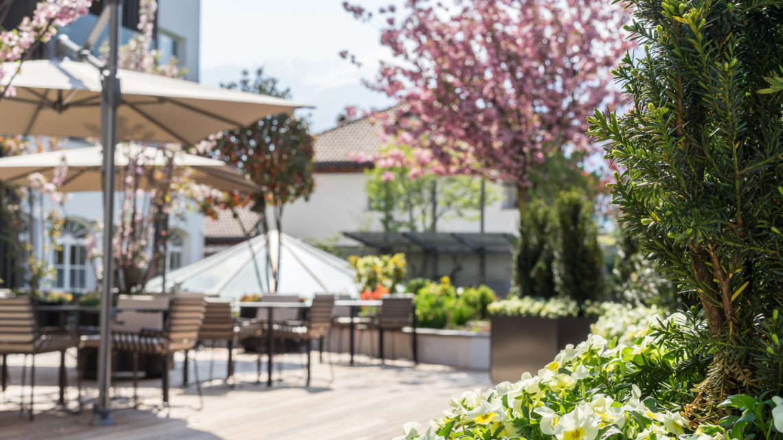 Hotel Vinschgerhof Terrasse