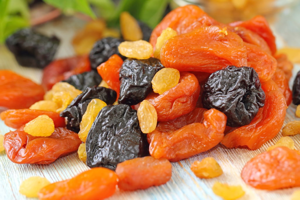 Dörrfrüchte Trockenfrüchte Dörrobst getrocknet Ernährung