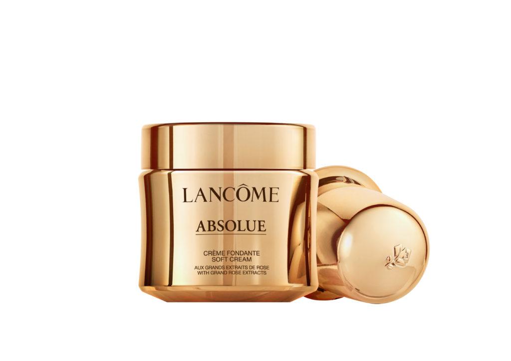Lancôme Absolue Soft Cream, 60 ml, CHF 280.– Lancôme Absolue Soft Cream Refill, 60 ml, CHF 225.– Top-Produkte für die Haut