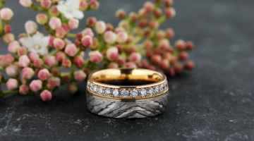 Traumschmuck Gelbgold Weissgold Diamant Memoire Ring 02