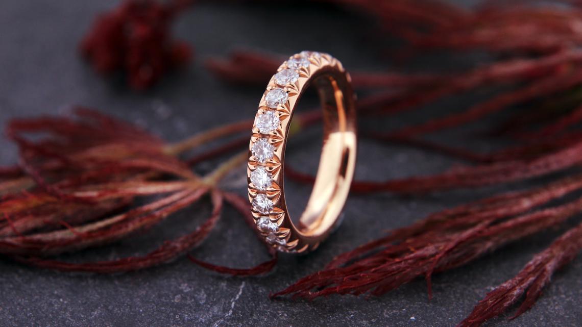 Traumschmuck Roségold Diamant Memoire RIng 02