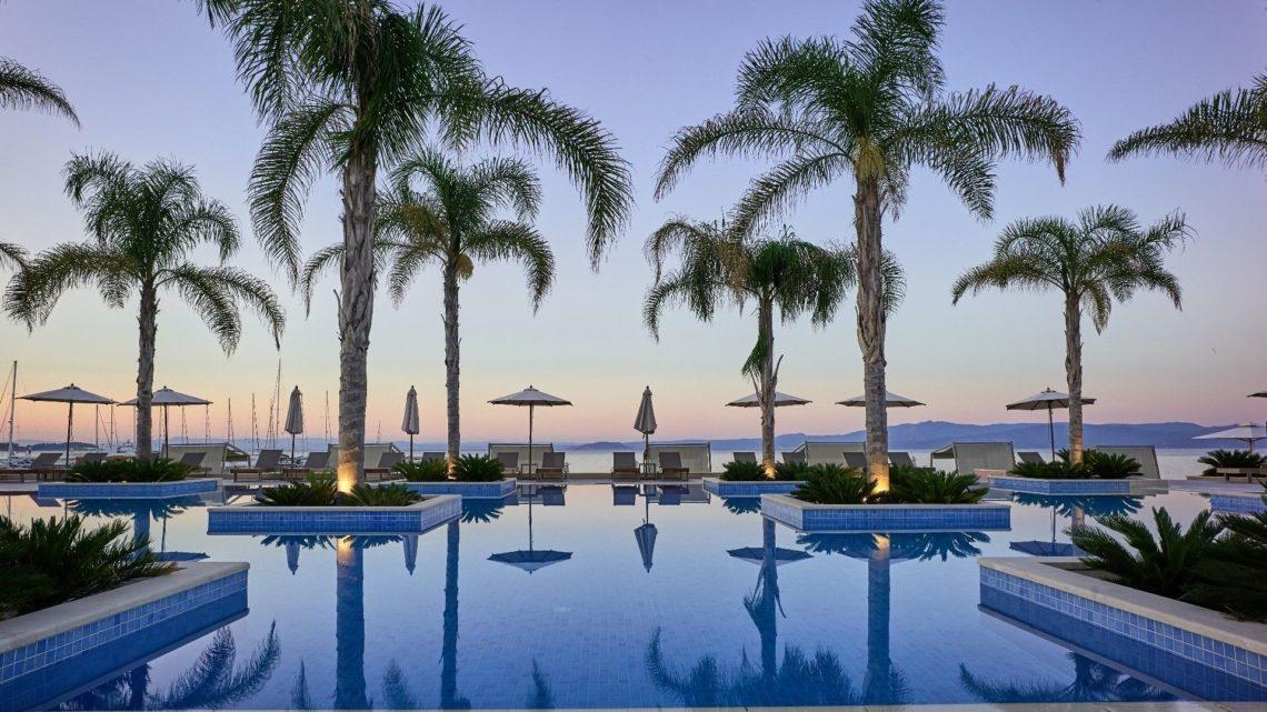 Mirragio Thermal Spa Resort Swimming Pool Palm Trees worldofwellness