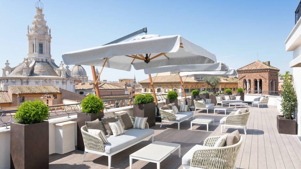 Luxus Rooftop-Bars weltweit The Pantheon Iconic Rome 2 Marriott International worldofwellness