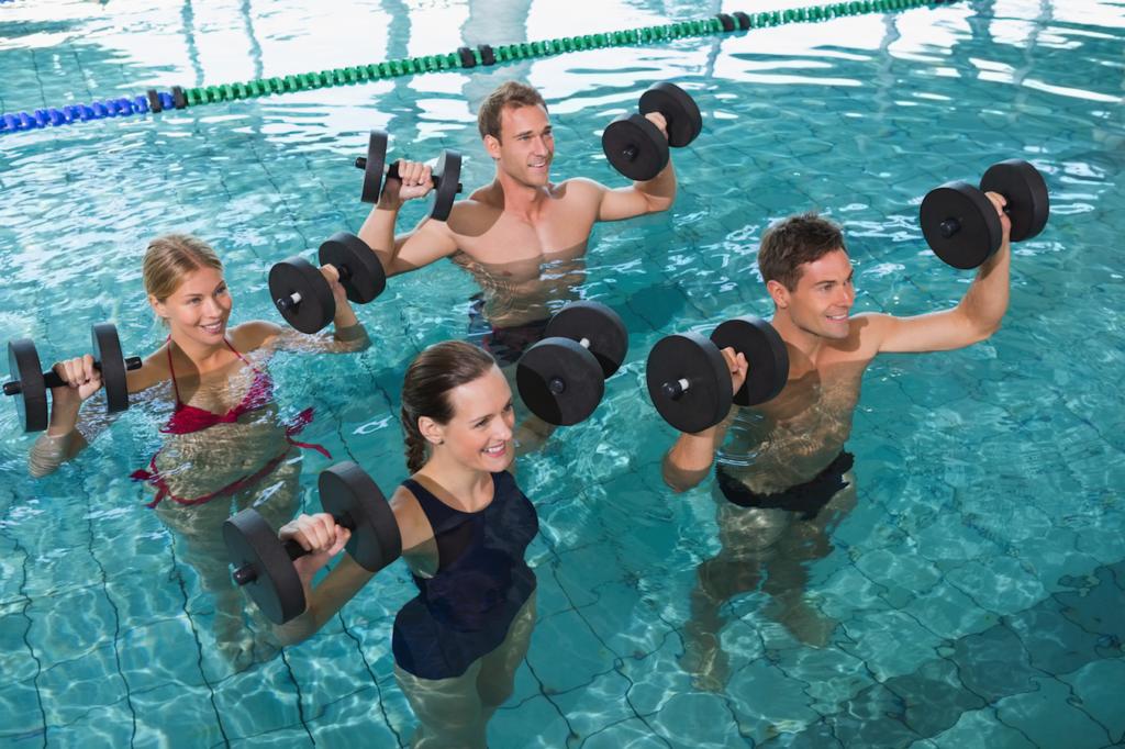 Aqua Fitness Gruppe Sport im Wasser jung 123RF worldofwellness